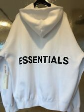 FOG-FEAR OF GOD X PACSUN ESSENTIALS GRAPHIC WHITE PULLOVER HOODIE!!!