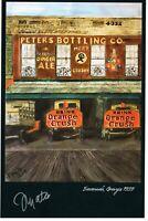 POSTER 1939 Orange Crush Bottling Warehouse Artist Signed SAVANNAH GEORGIA