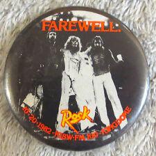THE WHO Farewell Tour 10-20-1982 KISW Kingdome Pin Pinback Button RARE