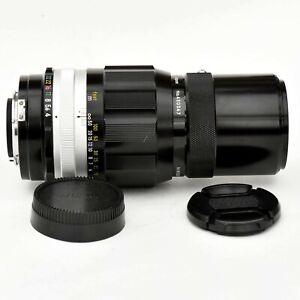 Vintage Nikkor Q Auto 200mm f/4 PRE-AI Tele Lens. Near Mint. see Test Images