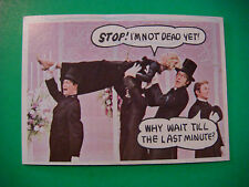 """1968 Topps Rowan & Martin's """"Laugh In"""" Trading Card #33 ~*~ Stop, I'm Not Dead!"""