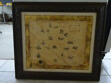 Orange County California Framed Map Ranchos & Landmarks