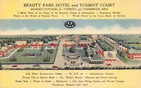 Linen Postcard Beauty Park Hotel & Tourist Court in Indianapolis, Indiana~129061