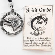 Raven Totem Necklace Spirit Guide Wisdom animal bird Pendant writing on back