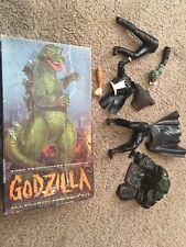 Original Aurora Godizila 1964 Box With Lot Of Vintage Aurora Monster Model Parts
