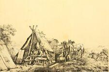 UNBEKANNT (19.Jhd), Französ. Feldlager unter Napoleon, Schirrmeister, Rad.