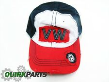 VW Volkswagen Navy White Red Vintage Patch Cap WITH Snap Closure Genuine OEM NEW