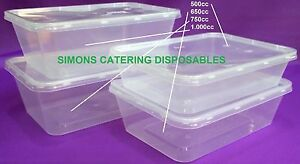 Microwave Food Containers Plastic Takeaway Freezer Safe + lids - FREE DELIVERY !