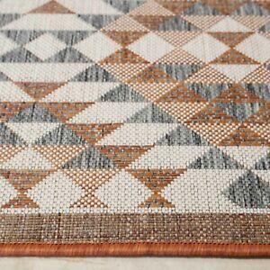 Large Flatweave Mats Outdoor Indoor Home & Garden Rugs Terra Geometric Modern UK