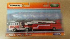 MATCHBOX super rigs convoy semi truck MEGA TON FIRE TRUCK