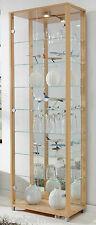 Vitrine Ausstellungsvitrine Spiegel Beleuchtung ESG Sicherheitsglas Schloß