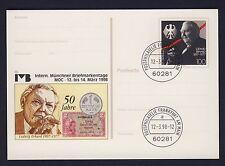 Bund 1904 Ganzsache Karte Ludwig Erhard 50 Jahre DM München Briefmarken Tage 98