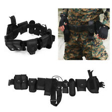 Black Tactical Nylon police Security Guard Duty Belt Utility Equipment System