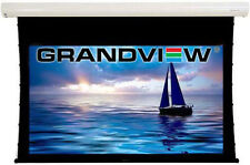 """Grandview Cyber Series 77"""" Electric Tab Tensioned 16:9 Projector Screen  Remote"""