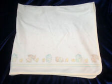 carters vintage baby blanket numbers animal parade elephant puppy chicks yellow