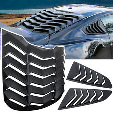 Rear+Side Window Louver Cover Sun Shade Vent For Ford Mustang 2015-2021 ABS