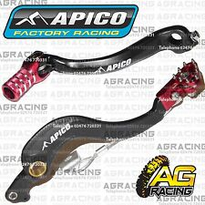 Apico Black Red Rear Brake & Gear Pedal Lever For Honda CRF 250R 2011 Motocross