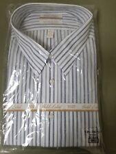 NWT Gold Label Roundtree & Yorke 100% Cotton Poplin Stripe Point Collar Shirt