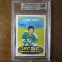 1969-70 O-PEE-CHEE Vault File Copy NHL Hockey DANNY GRANT Card Topps BVG 8.5 COA