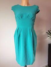 Closet Cap Sleeve Dress with Curved Waistband Teal NWT UK 8 (C109)