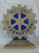Ancien objet publicitaire plâtre ROTARY INTERNATIONAL club Rotarien association