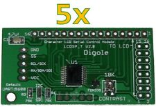 5x Serial:UART/I2C/SPI Adapters for 1602/1604/2002/2004/4002 LCD in Arduino/PIC