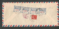 Pakistan 1960 registered air mail cover Karachi Saddar to NY