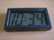 SMALL LCD DIGITAL CLOCK LARGE NUMBERS CAR ACCESSORY HOME OFFICE