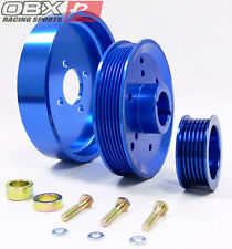 OBX Blue Overdrive Pulley Fits 2001 To 2004 Mustang GT 2001 To 2002 Cobra 4.6L