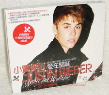 Justin Bieber Under The Mistletoe Taiwan Ltd CD+DVD+Christmas Cards w/BOX