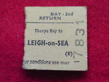 DAY RETURN 2nd TICKET - THORPE BAY TO LEIGH-ON-SEA