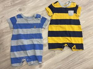 LOT OF BABY GAP BOYS CLOTHES SIZE 3-6 MONTHS ROMPERS SHORT SLEEVES SHIRTS PANTS