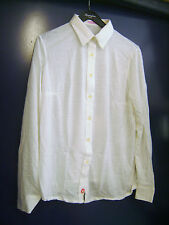 Chemisier vintage en jersey Jacques Sestrière blanc T 52 neuf