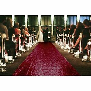 Aisle Runners for Weddings Sequin Aisle Runner Wine Bridal 2FTx15FT Burgundy