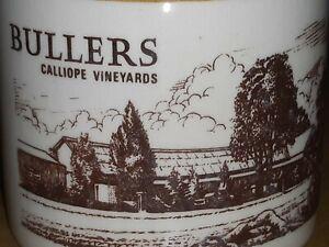 Bullers Calliope Vineyards Ceramic Pottery Port Bottle