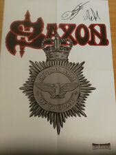 SAXON, HEAVY METAL,  POSTER mit ORIGINAL AUTOGRAMMEN - SIGNED!!!