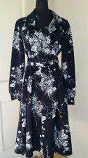 60's 70's True Vintage Belted Secretary Dress Small S / XS