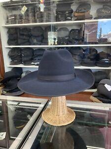 Vintage Puertofino Wide Brim Dark Blue Men's Hat Size 7 3/8