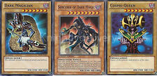 Sorcerer of Dark Magic + Cosmo Queen + Dark Magician - NM - Yugioh
