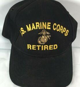 United States Marine Corps Retired Logo Eagle Crest Snapback Baseball Cap Hat