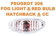 Peugeot 206 Hatchback & CC Rear Chrome ML Lexus Fog Lights For Bumper