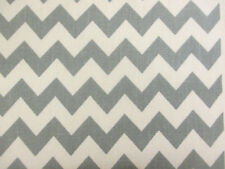 11 metres Ivory & Green Chevron Printed 100% Cotton Canvas Fabric.(Full Bolt)
