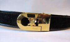 Stunning Ladies Suede Patent Black CELINE leather belt 75 US 28 Small