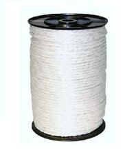 6MM WHITE ELECTRIC POLY ROPE - 200m Roll Fence Fencing Horse Paddock 6 x 0.20mm