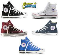 f552f45752ea Converse All Star Hi Scarpe Bianco Nero Blu Bordeaux Sportive Sneakers Shoes