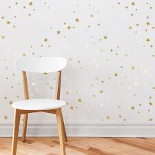 250 x Stars Bedroom Nursery Playroom Hallway Individual Stickers Vinyl Decal
