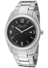 KENNETH COLE NY DRESS BLACK DIAL DATE STAINLESS STEEL MEN'S WATCH KC9058 NEW