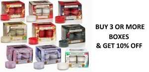 ☆☆YANKEE CANDLE TEA LIGHTS BOX OF 12 ☆☆YOU CHOOSE THE SCENT☆☆FREE SHIPPING