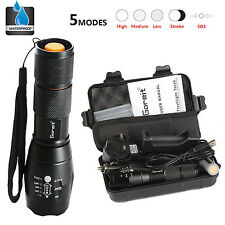 5000LM X800 CREE T6 LED Flashlight Torch shadowhawk Lamp Nylon Pouch battery