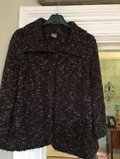 TU BROWN BOUCLE CHUNKY CARDIGAN SIZE 12 Bnwot